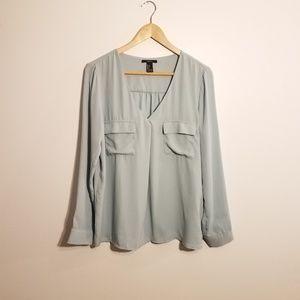Forever 21 slate blue blouse